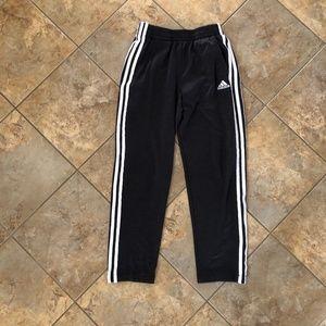 Boys Adidas black track pants